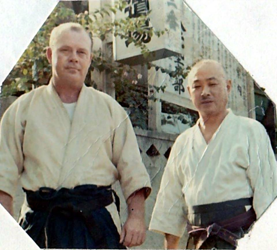 Supreme Master Ryuho Okuyama and Soke Church during training at Hakko Ryu International Shihan Kai Headquarters (Hakko Ryu Jujutsu)